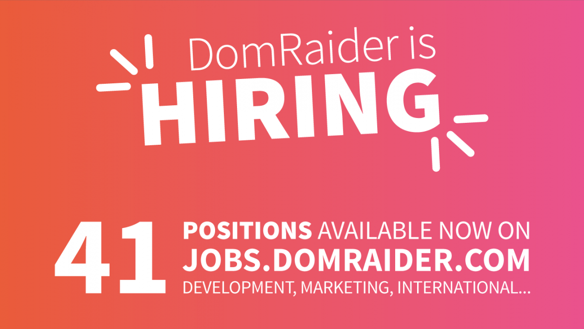 DomRaider is hiring: 41 positions available now